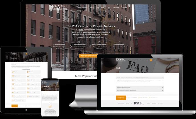 Custom website design for rent services