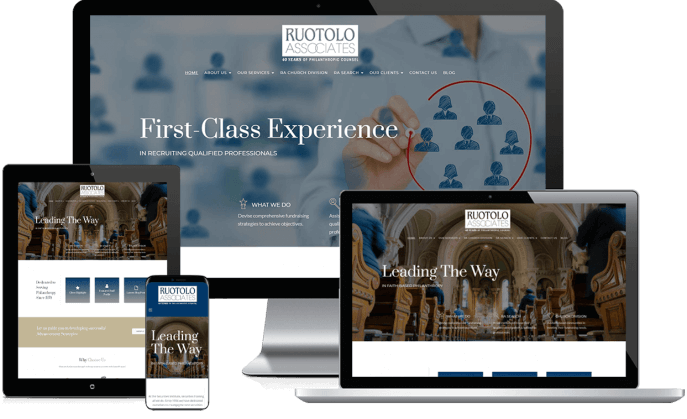 Custom website design for philanthropic consultants