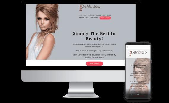 Salon DeMatteo LLC Web Design Small Business