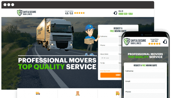 Secure Van Lines Web Design Home Services