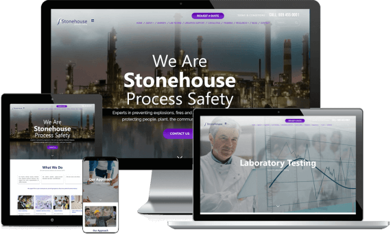 Stonehouse Process Safety Web Design Custom Website