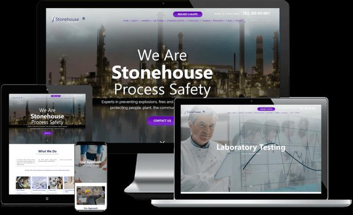 Custom website design for a safety testing company