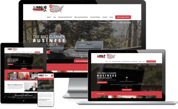 Custom website design for a grill cleaning company