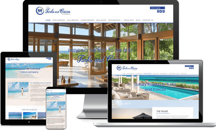 Custom website design for a travel booking agency