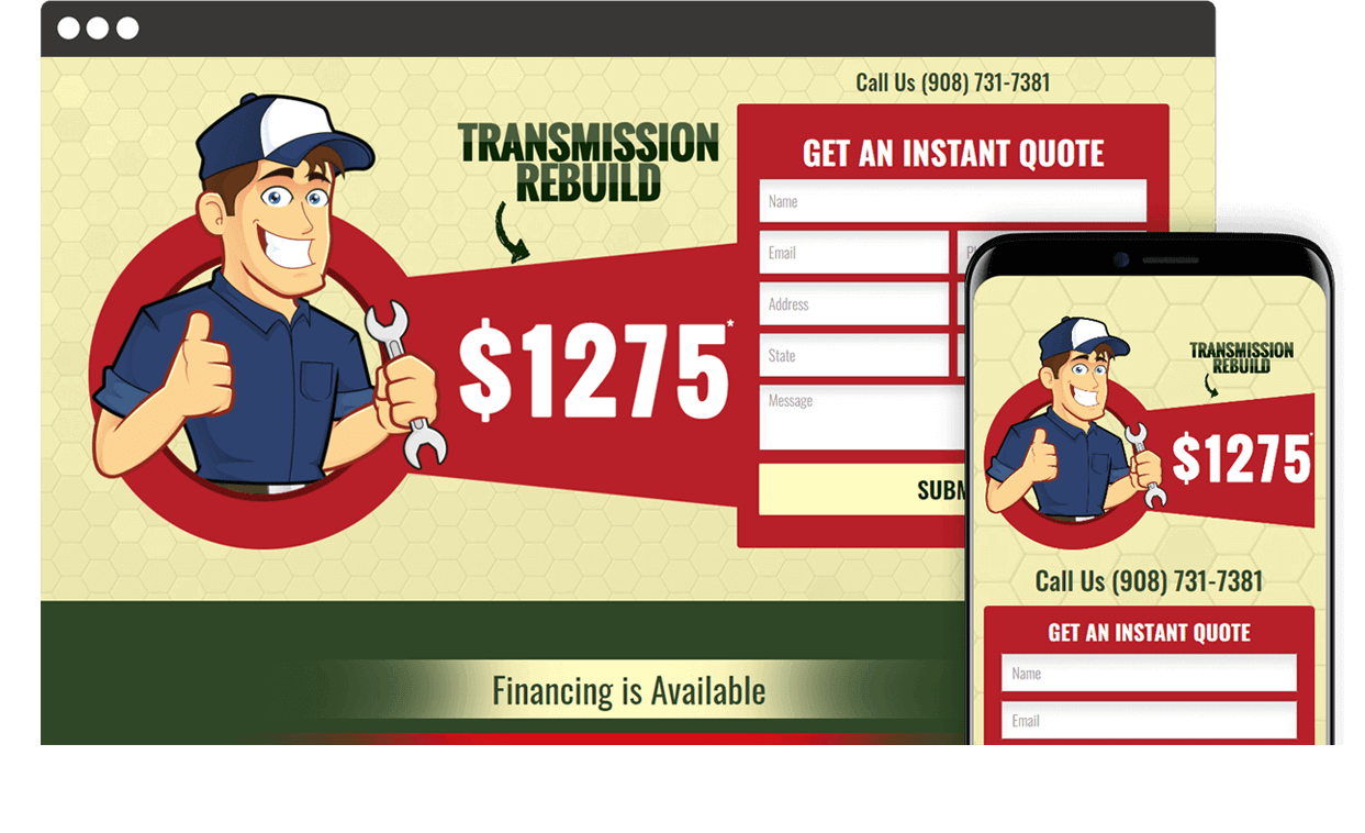 Custom Website for Trans1275