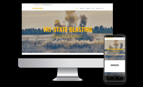 Tri State Blasting Web Design Template Site