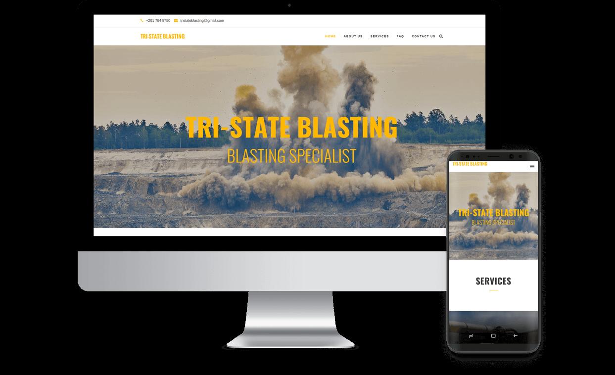 Custom Website for Tri State Blasting