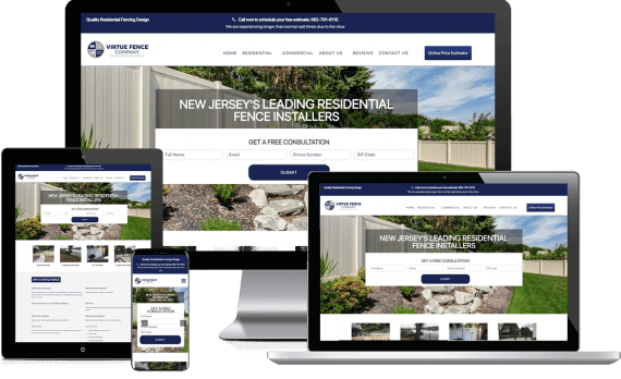 Virtue Fence Company Web Design Home Services