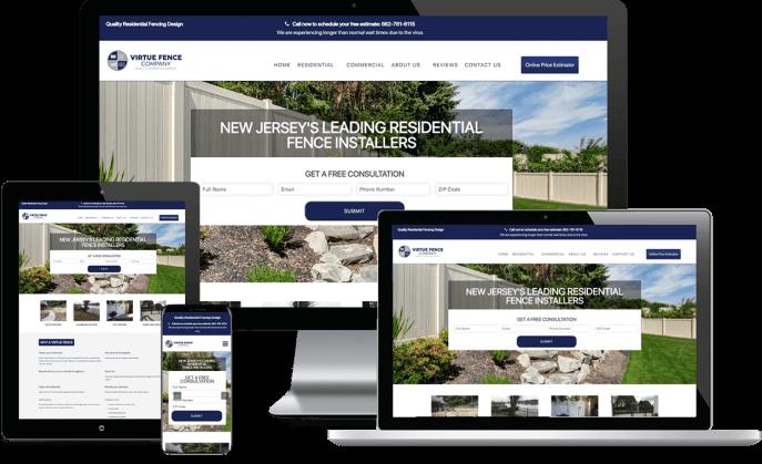 Custom website design for a residential fencing company