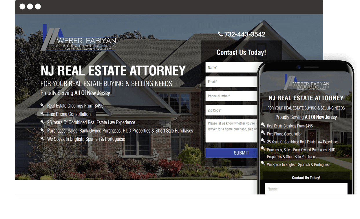 Custom Website for Weber, Faiyan & Associates