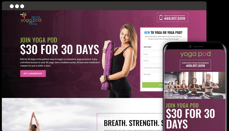 Custom Website for Yoga Pod