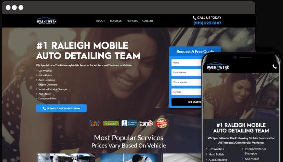 Wash N Werk Web Design Automotive