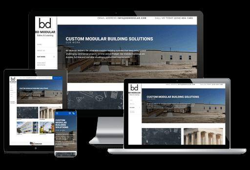 BD Modular & Leasing Web Design Business to Business