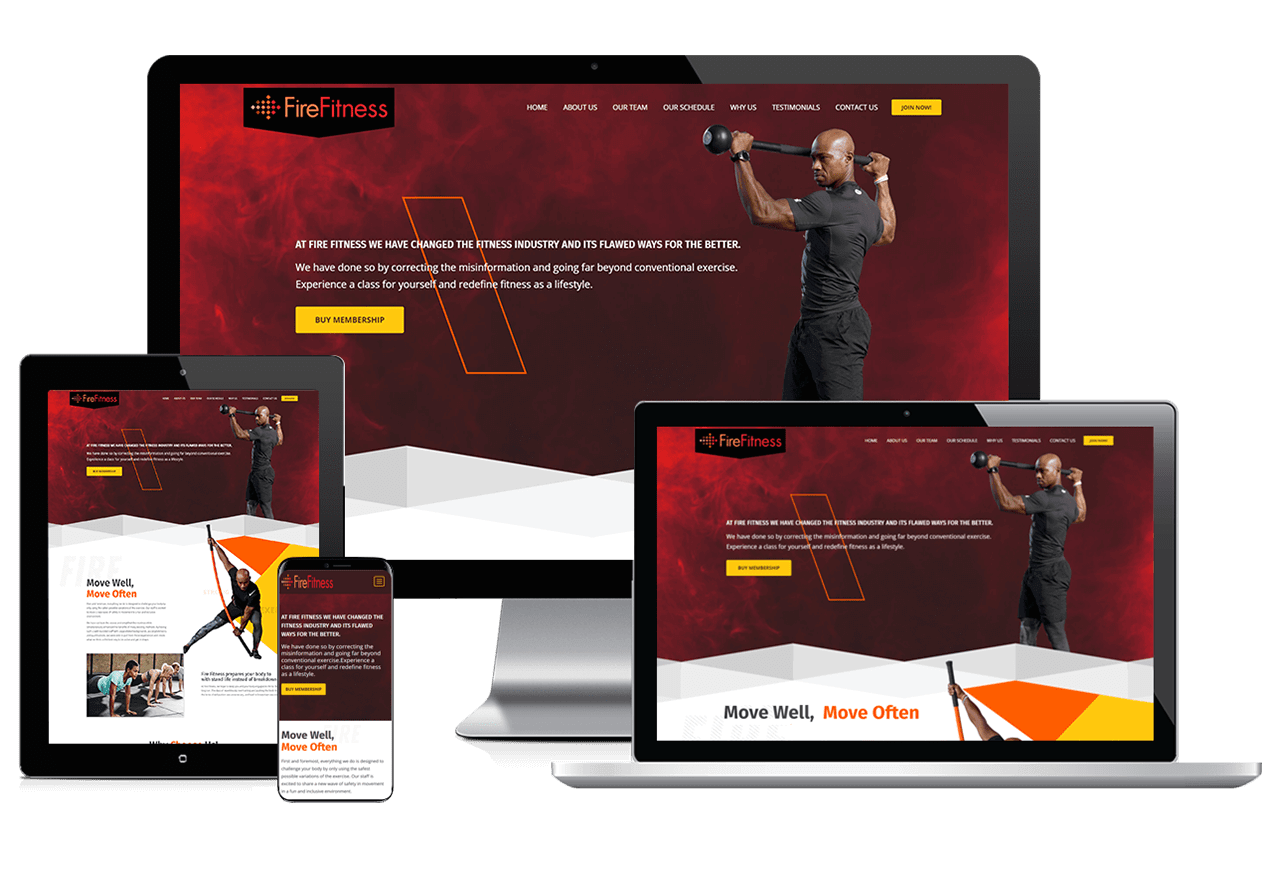Webdesign: Fire Fitness Responsive