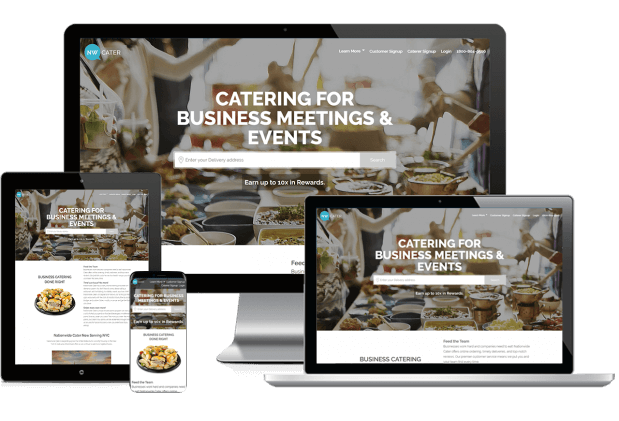 Custom website design for catering services