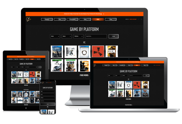 Custom website design for video game forums