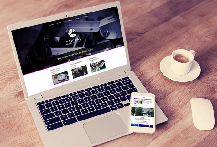 Print Connect Custom Printing Company Website