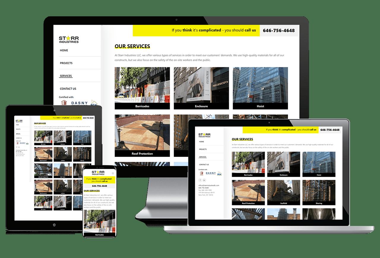 Web Design: Starr Industries Responsive