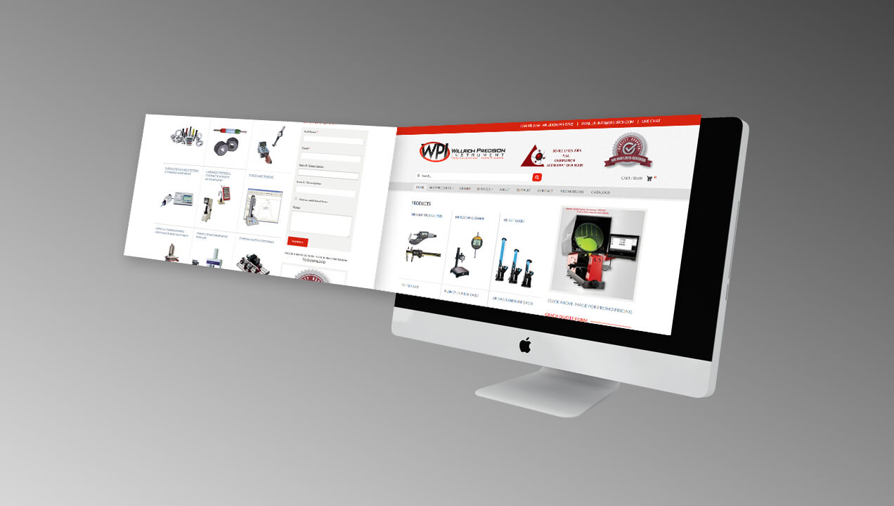 Willrich Precision Instruments responsive website design
