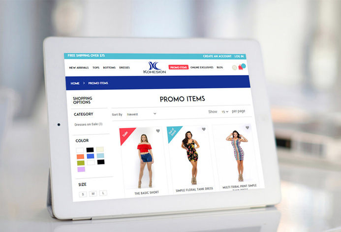 Kohesion Clothing Magento Website