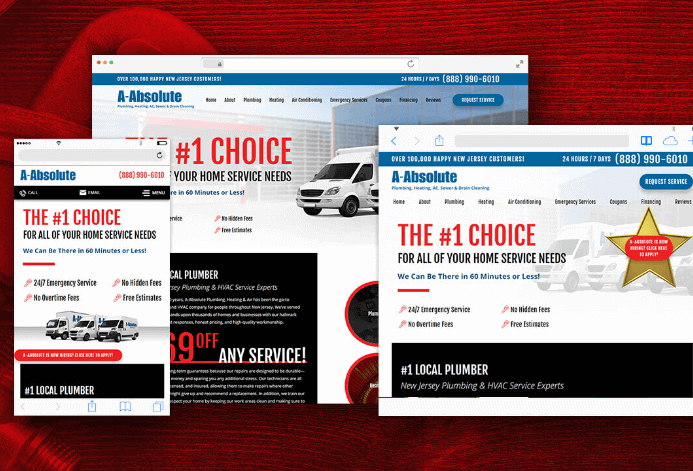 A-Absolute Plumbing WordPress Website