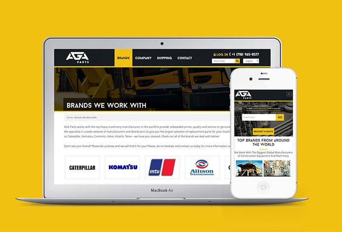 AGA Truck Parts WordPress Website