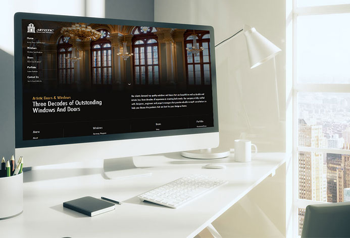 Artistic Doors & Windows WordPress Website