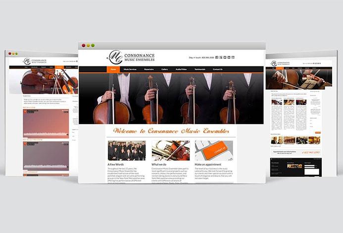 Consonance Music Ensembles Magento Website