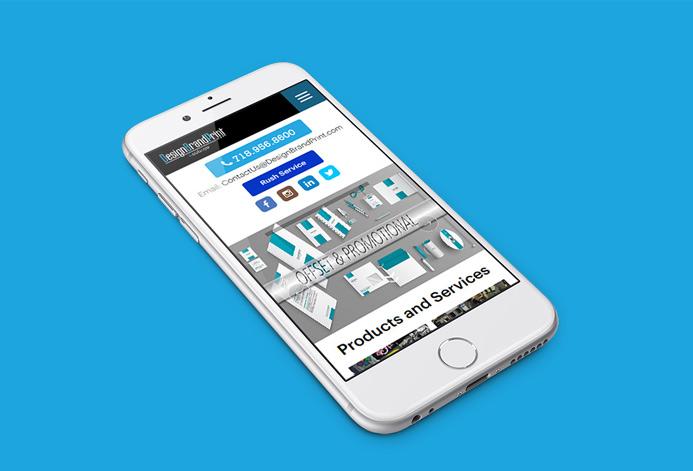 DesignBrandPrint WordPress Website