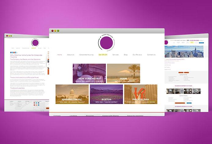 Dharma Home Suites WordPress Website