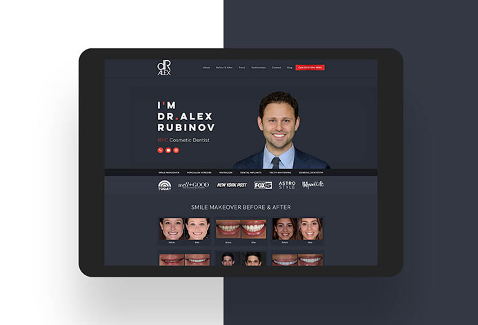 Dr. Alex Rubinov WordPress Website