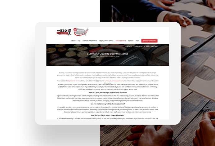 The BBQ Cleaner WordPress Website