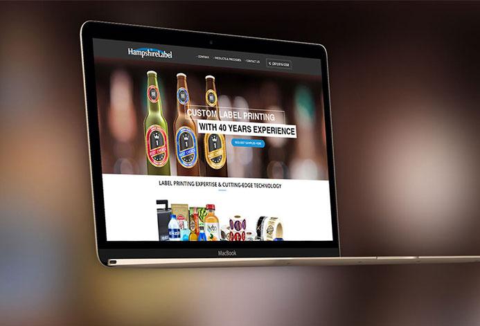 Hampshire Labels WordPress Website