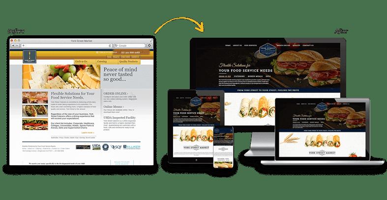 York Street Market: Industrial Website Redesign