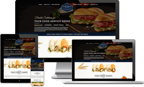 York Street Market Web Design Hospitality