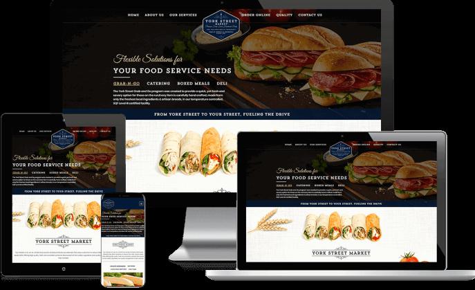 Custom website design for a catering company